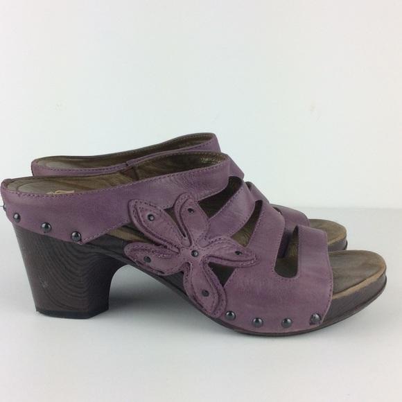 d4a3c104293 Dansko Shoes - Dansko Purple Leather Sandals 7708404500 Size 40